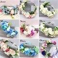 Dama de honra do casamento da Grinalda da Flor Artificial Flor Cabeça Grinalda Floral headband acessórios para o Cabelo Flor Headpiece Flor Da coroa