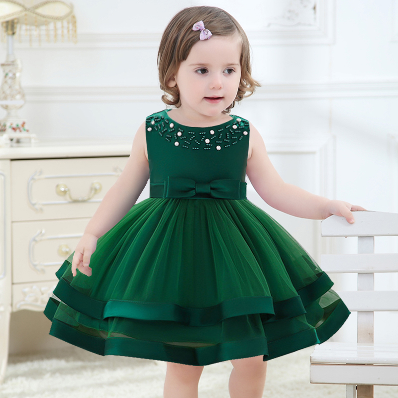 2019 Baby Costume Newborn Girls Dress Flower Girls Princess Clothes Fluffy Dresses First Communion Baptism Vestido Clothing