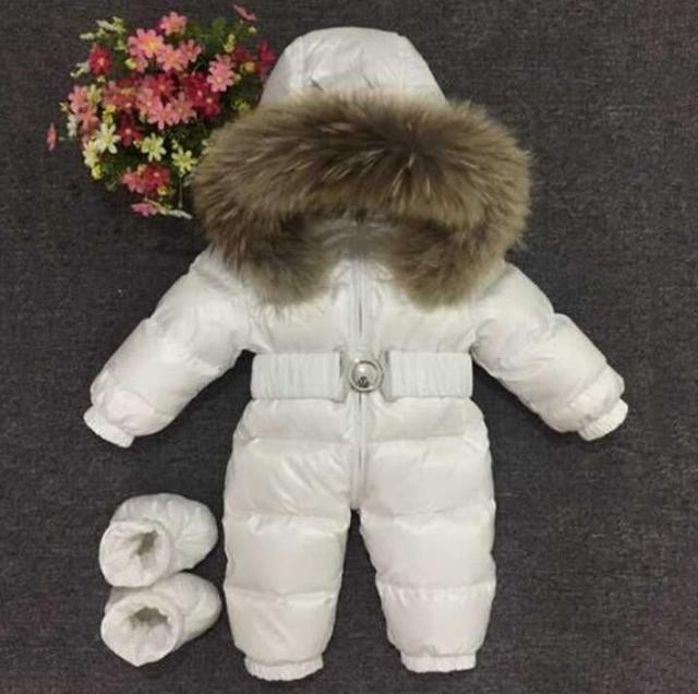 cheap ! 2016 New style infant snowsuit ! baby jumpsuit children outerwear duck down clothes,winter jackets for babies snow wear