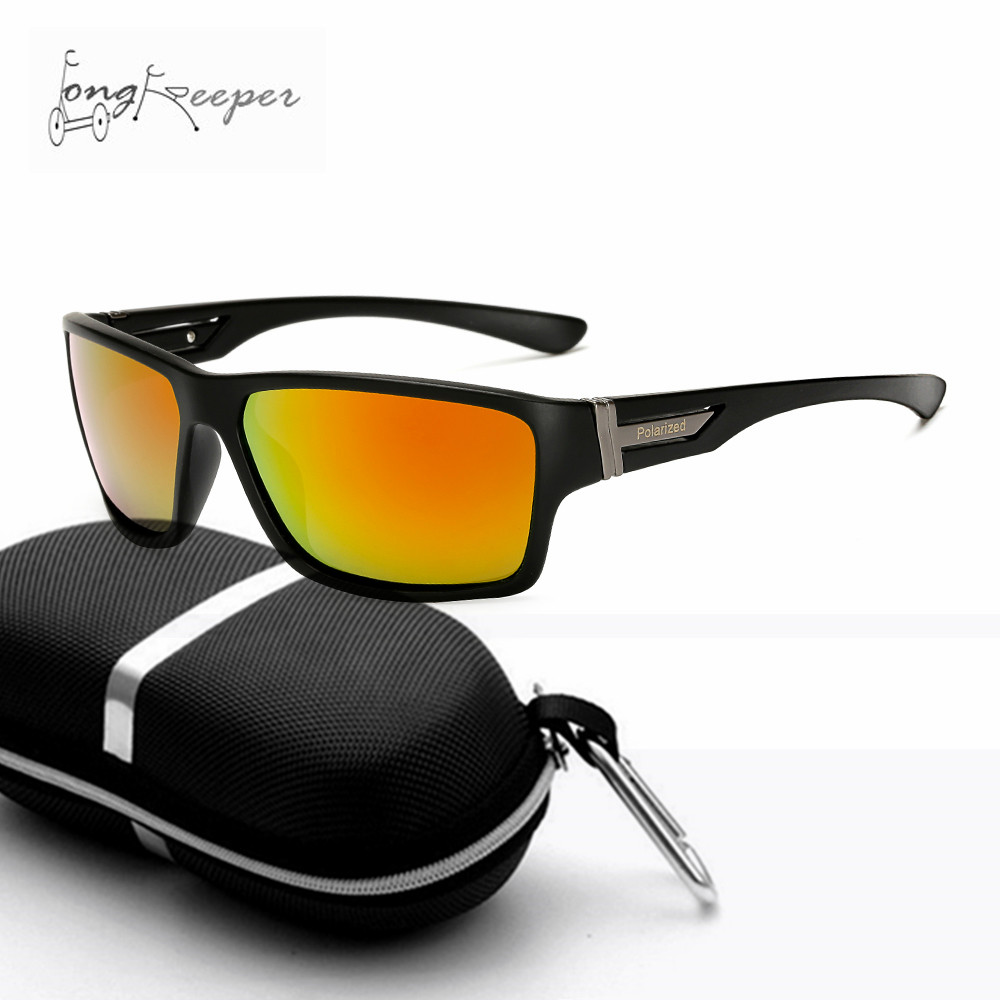 Long Keeper New Polarized Sports Sunglasses Unisex Outdoor Bike Riding Fishing Hiking Golf Running Glasses with Box