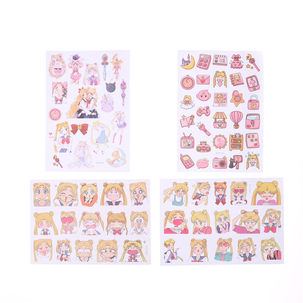 1Pc Kawaii Sailor Moon Girl Decorative Sticker Set Diary Album Label Sticker DIY Scrapbooking Stationery Stickers Escolar Random