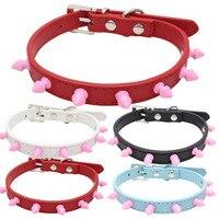 BP Heat Sell PU A Collar For A Horse Defence Bite The Chain Colour Circle Nail Dog A Collar CW XQ28