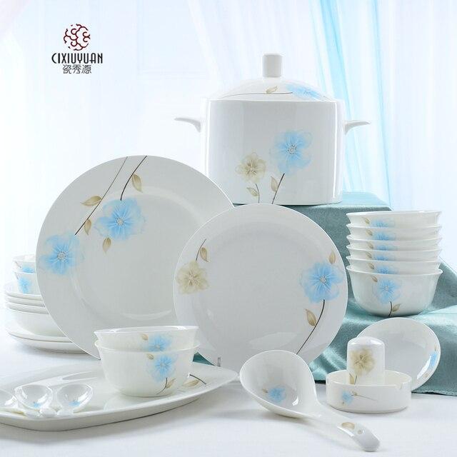 56piece set bone china tableware set ceramic korean lunch boxes porcelain dinnerware & 56piece set bone china tableware set ceramic korean lunch boxes ...