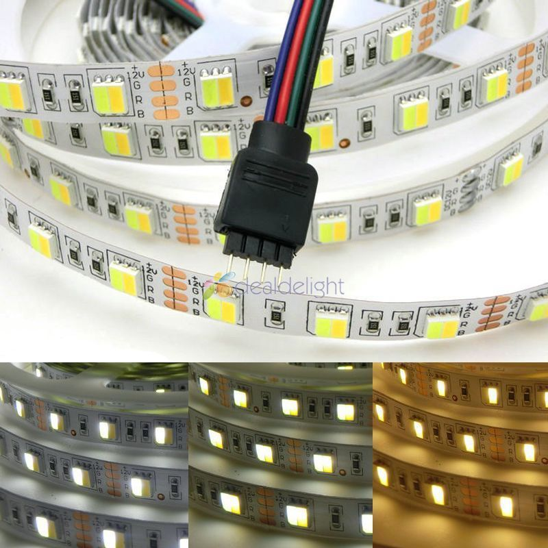 <font><b>LED</b></font> <font><b>strip</b></font> 5M reel 12V <font><b>5050</b></font> <font><b>300</b></font> smd <font><b>led</b></font> CCT color temperature adjustable and dimmable <font><b>strip</b></font> white+warm white in 1 chip <font><b>LED</b></font> <font><b>strips</b></font> image