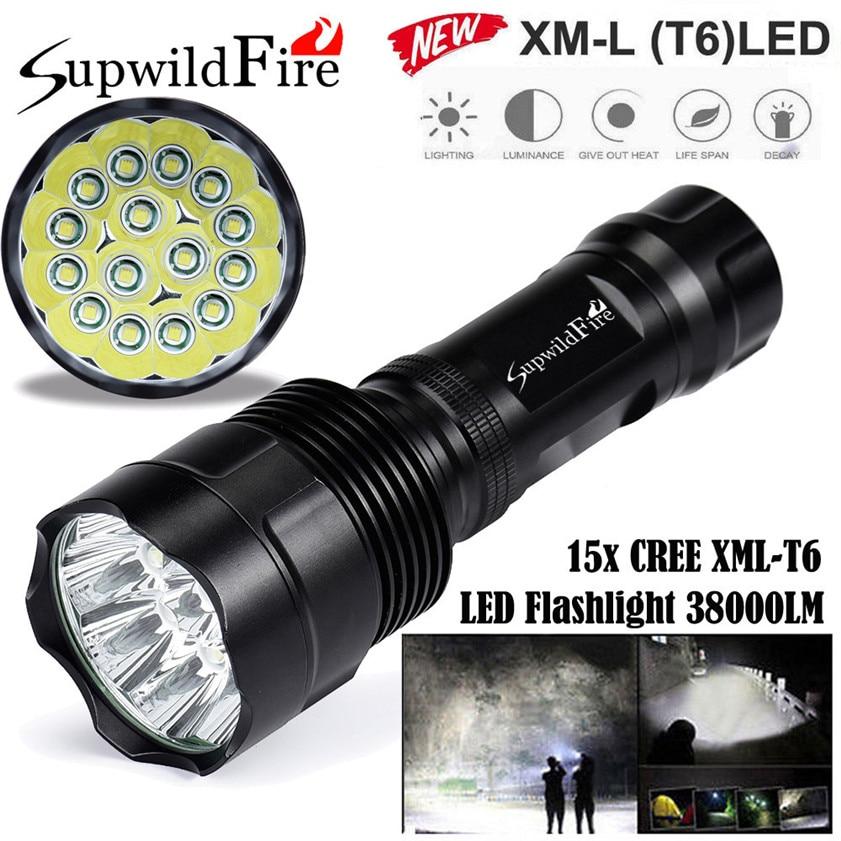 Super Bright 38000Lm 15x CREE XML T6 LED 5Mode 26650 Flashlight Torch Light Lamp 170509 sitemap 45 xml