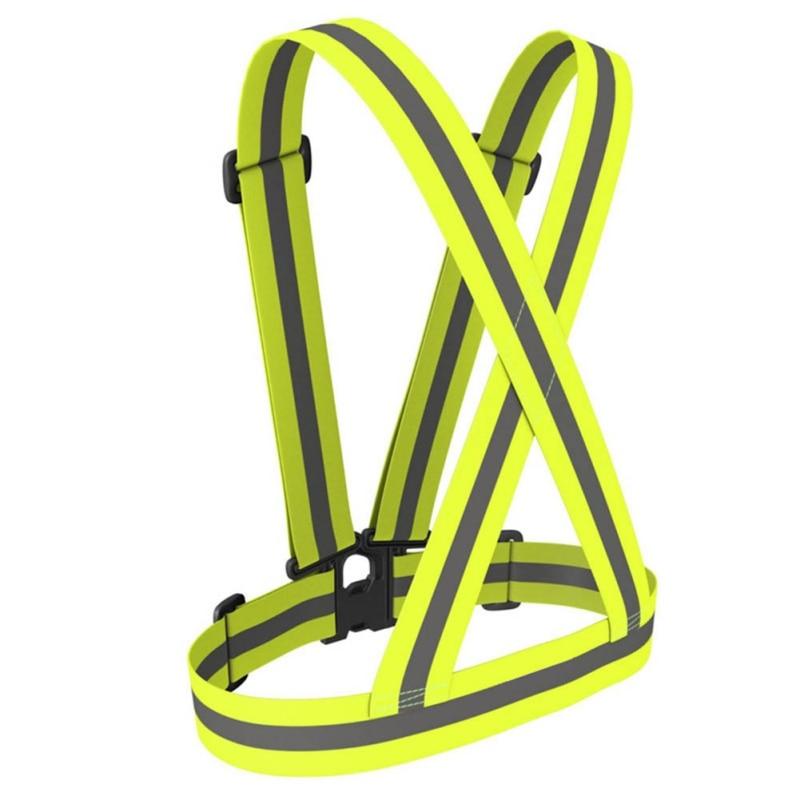 1PC Adjustable Outdoor Safety Vest Gear Stripe Sports Night Run Reflective Belt