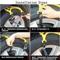 Car Vehicle Truck SUV Safe Snow Tire Wheel Chain Anti-skid Belt Universal
