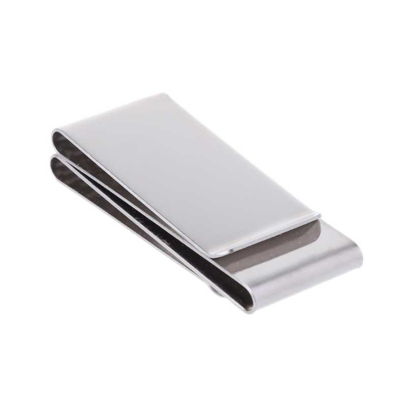 New 2018 Stainless Steel Slim Double-sided Money Clip Purse Wallet Credit Card ID Holder