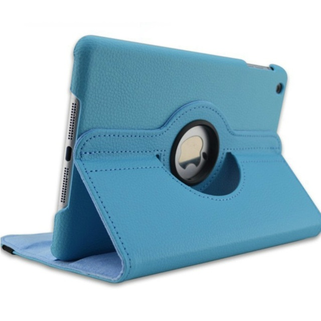 New for iPad mini 1 mini 2 mini 3 Case 360 Rotation Flip Stand A1432 A1454 Protective Cover for iPad mini 1 2 3 Smart Cover