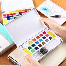 12/18/24/36/color solid watercolor paint, free watercolor pen, color palette, children's beginners watercolor supplies
