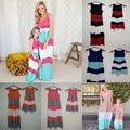 Mirada de la Muchacha y Madre Hija de verano de la Familia Establece vestidos A Juego trajes de Color de Contraste ropa madre e hija mamá y yo ropa