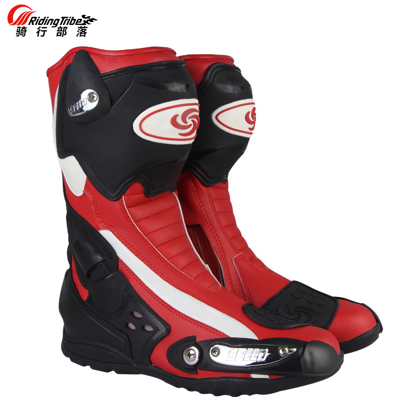 Riding Tribe Mens Motorcycle Riding Long Boots Outdoor Knight Riding Boots Shoes Motorcycle Anti Fall Boots