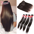 Brazilian Virgin Hair With Frontal Closure Bundle Brazilian Straight Hair With Closure 3 Bundles With Frontal Closure Straight