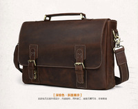 Genuine Cow Leather Briefcases Men S Handbag 15 Inches Top Handle Laptop Bag 8069