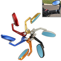 1 Set Motorcycle Aluminum 7/8 22mm Bar End Side Rearview Mirror Universal Motorbike Bike Handlebar Rear View Mirrors For Bike