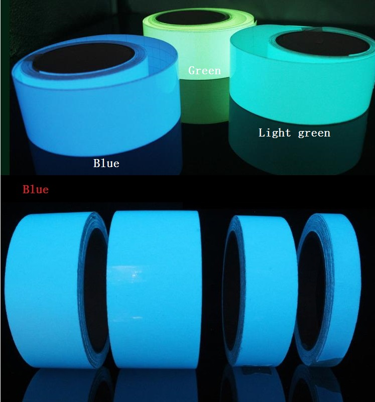 3cm*5M Safety Home Decoration Tapes Storage Light Luminescent Film Glowing In The Dark Warning Stage Luminous Self-adhesive Tape fun desk