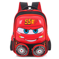 New Cute 3D Kids School Bags High Quality Car Printing Cartoon Children Backpack Kindergarten Lovely Boy and Girl Gift Schoolbag