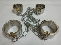 Sex tools for sale heavy legcuffs handcuffs set sexy sex toys bdsm fetish bondage restraint set for sex toy for man and woman.