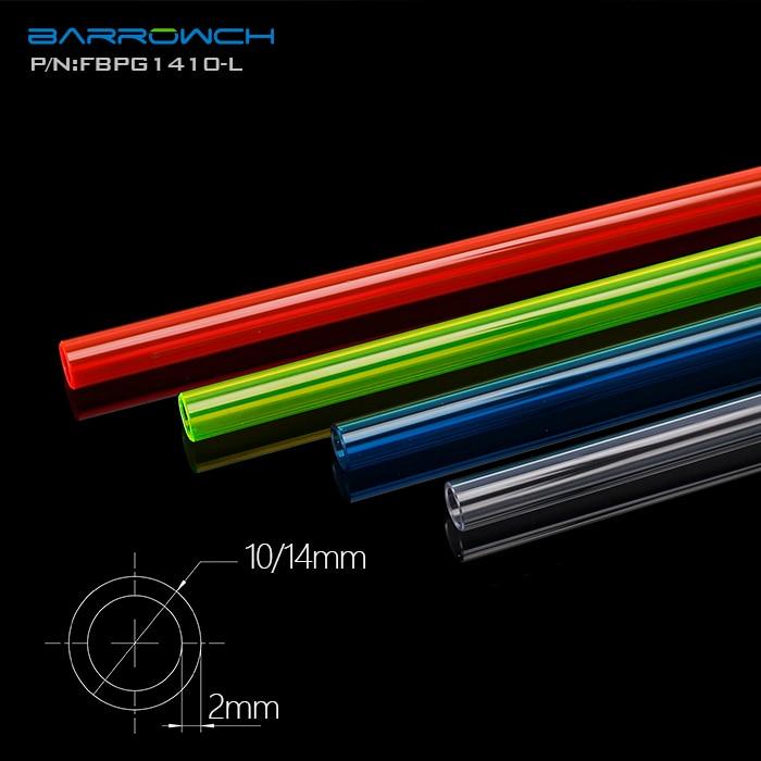 Barrow PETG Hard Tube ( 8/12mm   10/14mm   12/16mm ) Thickness 2mm Length 50cm Rigid Pipe 2pcs/Lots|Fans & Cooling|   - AliExpress