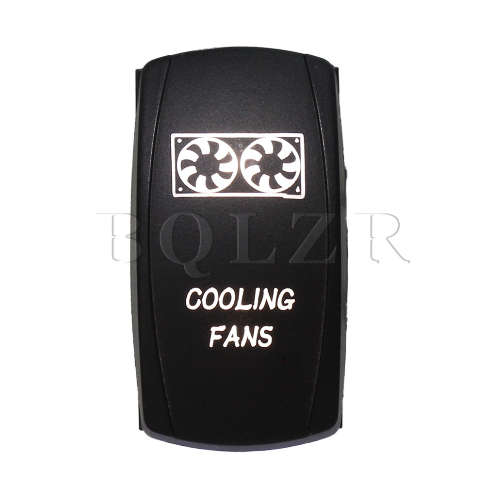 BQLZR DC12-24V Car 5pin Waterproof IP68 Cooling Fans White Light ON-OFF Rocker Switch bqlzr 5 pin waterproof white led light park brake 5 pin on off rocker switch for truck