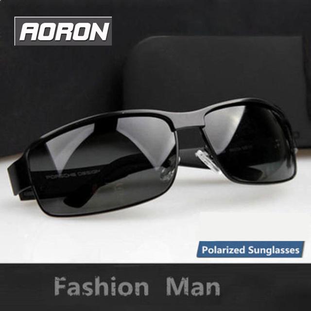 Moda Marca Aoron hombres gafas de Sol 100% UV400 Polarizado gafas de Sol De Conducción Gafas Hombres gafas de Pesca Deportiva Al Aire Libre Gafas de Sol