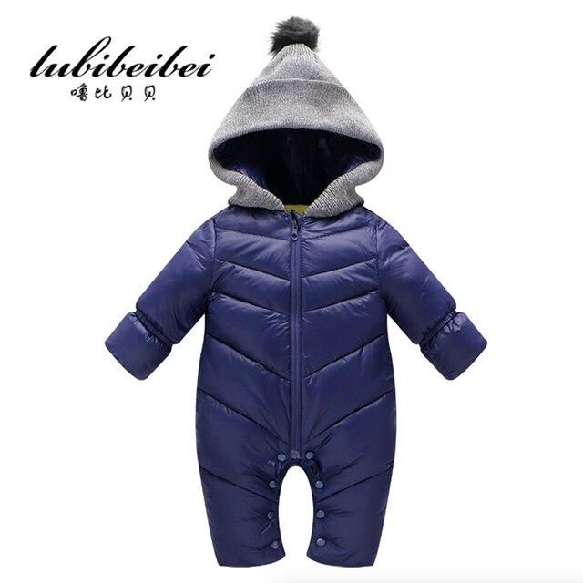 Детские Сиамские восхождение одежда осенью и зимой 2016 новые зимние дети толстые с длинными рукавами купальник Ползунки детская одежда