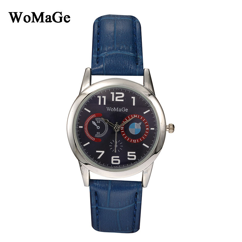New Arrival Womage Brand Luxury Unique Design Leather Strap Wristwatch Quartz Lady Fashion Bracelet Women's Watches montre femme