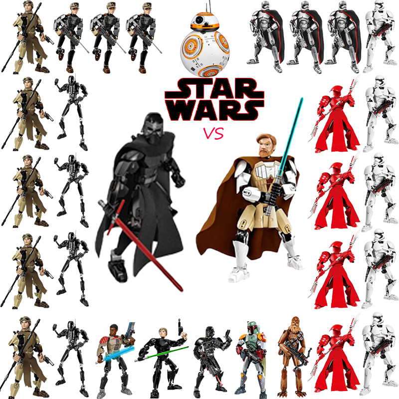Star Wars The Last Jedi Toys Darth Vader General Grievous Boba Fett Chewbacca Luke Skywa ...