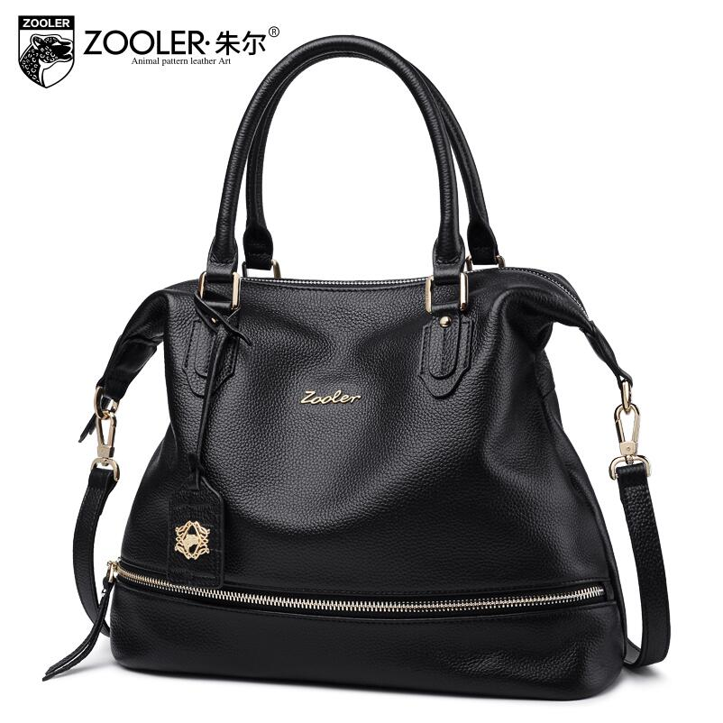 ZOOLER 2017 New Superior cowhide Genuine Leather fashion luxury handbags women bags designer tote women handbags bag Solid color