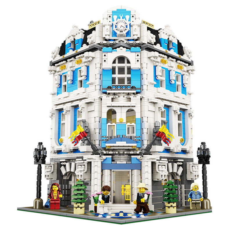 LEPIN 15018 Building Series 3196pcs The Sunshine Hotel Model Building Kits Building Block Bricks set Toys For children lepin 15018 3196pcs creator city series sunshine hotel model building kits brick toy compatible christmas gifts