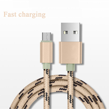 100pcs Micro USB Cable Fast Charging Tiger Nylon Braided Weave  Charger 1M Date for Xiaomi / Android /iph 6
