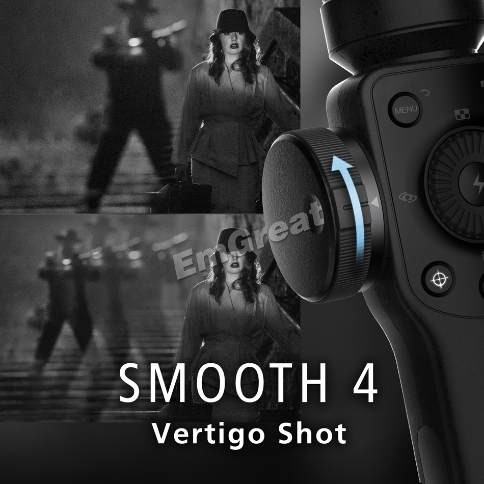Zhiyun Lisse 4 Q 3-Axes De Poche Smartphone stabilisateur de cardan pour iPhone XS XR X 8 Plus 8 7 P 7 Samsung S9 S8 S7 & caméra d'action - 2
