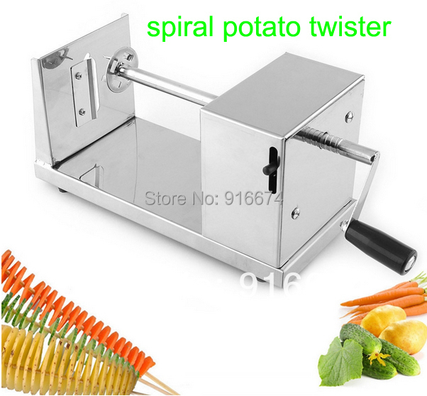 New HOT Stainless Steel Manual Spiral Potato Chips Twister Slicer Cutter Tornado Vegetable Tool Fast Delivery manual stainless steel potato slicing machine commercial tornado spiral potato chips cutter