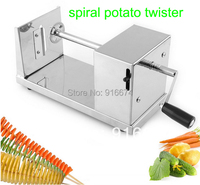 New HOT Stainless Steel Manual Spiral Potato Chips Twister Slicer Cutter Tornado Vegetable Tool Fast Delivery
