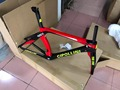 2 года гарантии Черный Красный велосипед карбоновая рама женский стиль карбоновая рама для велосипеда Сделано в Тайване RB1K белый/черный/кра...
