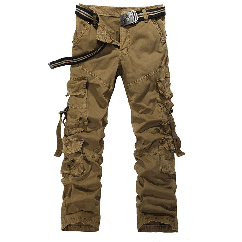 Cargo Pants 2018 Brand New Mens Fashion Casual Quality Army Camouflage Combat Camo Overall Long Loose Sport Cargo Pants Trousers Excellent Quality Men's Clothing