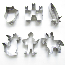 New!Dragon warrior stainless steel biscuit mold 6 pieces/set