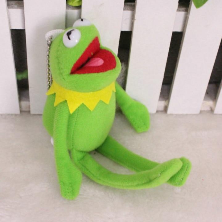 1 pcs new Sesame Street The Muppets Kermit The Frog Bonito Chaveiro Pingente de Pelúcia Brinquedos Dos Desenhos Animados Bonecos de Pelúcia Crianças Presente