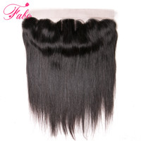 Fabc Hair Brazilian Remy Hair Straight 13X4 Lace Frontal With Baby Hair Three Part Human Hair