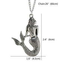 Beach Rock Mermaid Pendant Necklace