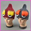 2016 Новая Зимняя вязание шляпа моды большие глаза sharp новый ресниц шерсть шляпа прилив женский Женщины Хэллоуин Подарок Забавный Партия шляпы MZ014