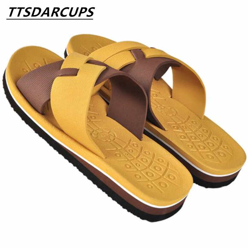 2405eb930c02ff Summer slippers Men s thick bottom anti-skid home indoor and outdoor wear  light foam bottom