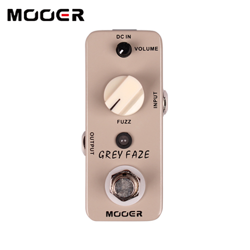 Mooer Grey Faze Fuzz Pedal A smooth, vintage fuzz sound guitar effect pedals mooer grey faze fuzz guitar effect pedal electric guitar effects true bypass with free connector and footswitch topper