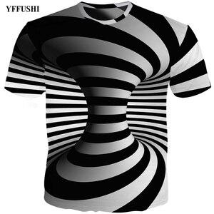 Image 4 - YFFUSHI Plus Size 5XL Male 3d t shirt Fashion Summer T shirt Top Dress Cool Plaid diamond 3d Hip Hop t shirts Fashion