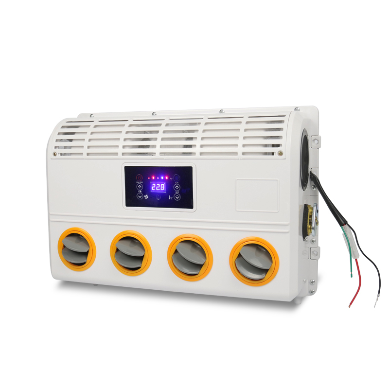 12V/24V Universal A/C Air Conditioner Evaporator assembly with Remote Control for Heavy Duty Truck Bus Van Excavator Tractor Y zhejiang boyard r134a 24v 12v dc air conditioner compressor kfb135z24 for truck sleeper air conditioner