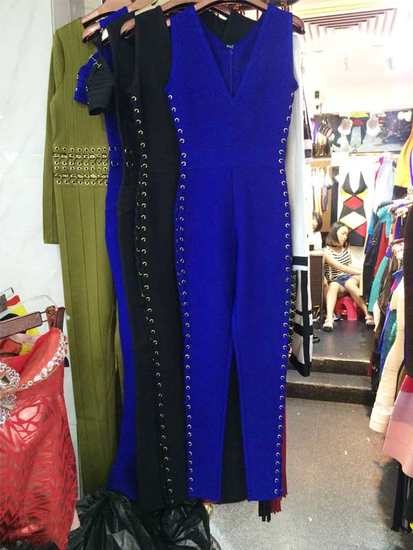 wholesale new Jumpsuits Black and blue fashion Hollow Out High-end luxury bandage Rompers (H1489)