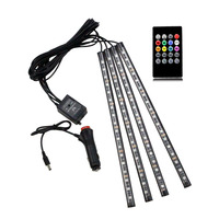 Car RGB LED Strip Ligh Car Styling Decorative Atmosphere Lamps 12v Led Strip Interior Light With