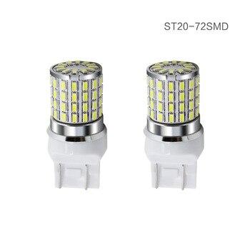 10pcs Car led P13W T20 7440 W21W W21/5W 7443 LED 72SMD 3014 LED Signal Brake Stop Reverse DRL Lamp White 1 Year Warranty 12-24V