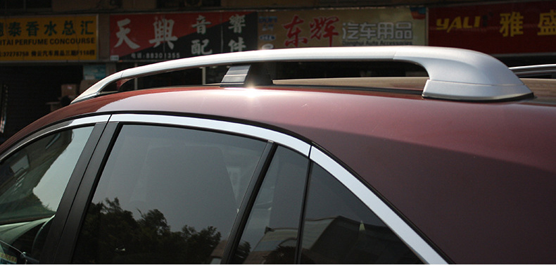 new arrival for RDX roof bar roof rack rail/luggage cross bar,install with screws,thicken aluminum alloy,best recomended.