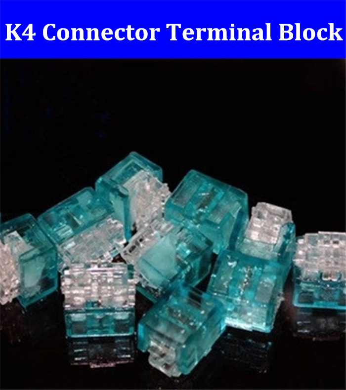 Free Shipping Good quality K4 Wire Connector,K4 cable connector,network cable terminal block for Telephone telecom Cable